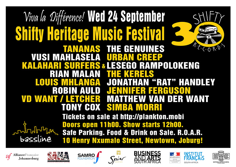 Click for Tickets - Shifty Heritage Music Festival eflyer
